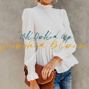 'All Dolled Up' Smocked Blouse